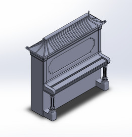 Upright Piano Pencil Holder