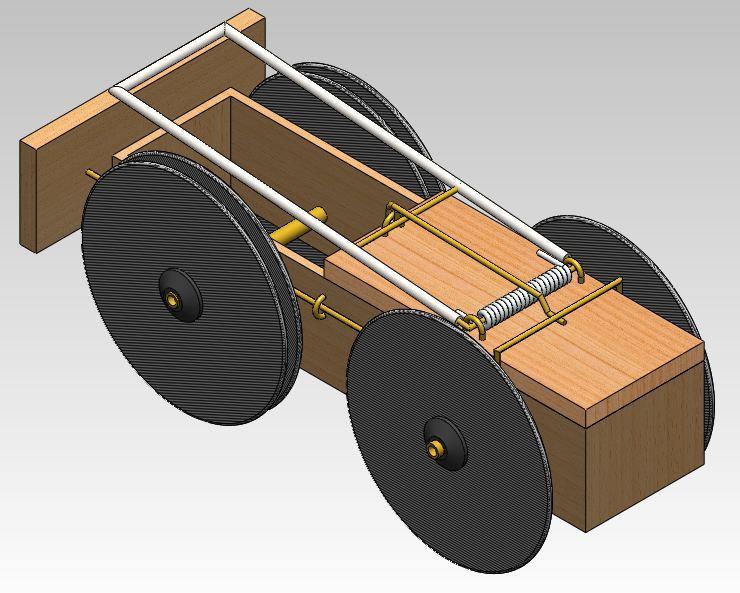 Mouse Trap Car 3d Cad Model Library Grabcad