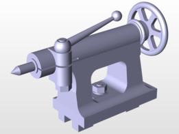 tail stock of a lathe machine