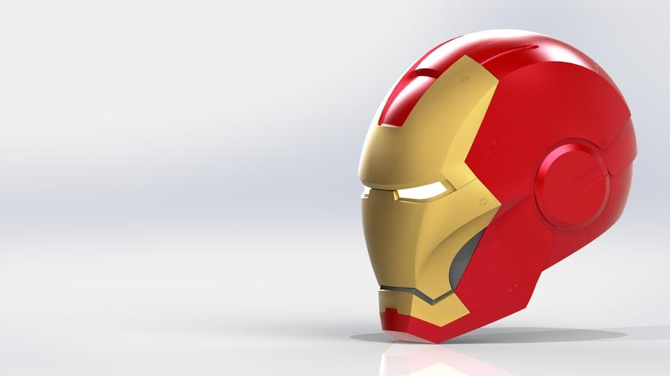 Iron Man Helmet | 3D CAD Model Library | GrabCAD