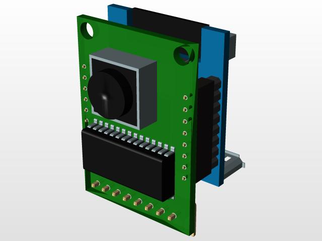 ArduCAM Mini 2MP + ESP8266 Nano | 3D CAD Model Library
