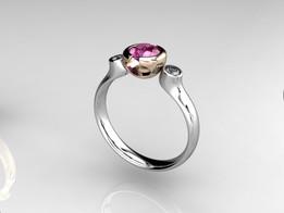 Trio Ring Bicolor