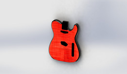 Cherry Red Flame Top Telecaster Body
