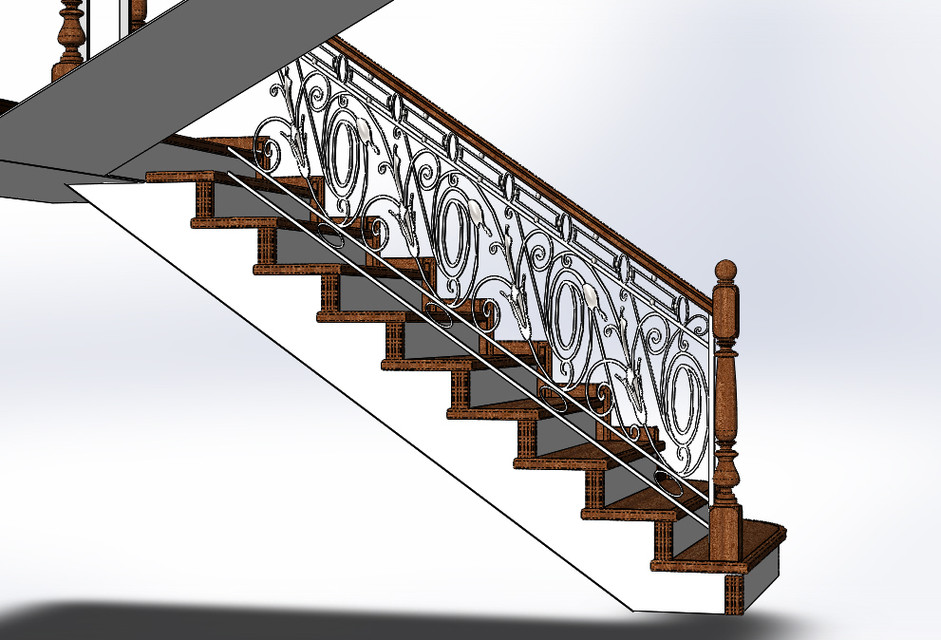 Wrought Iron Fence 3d Cad Model Library Grabcad