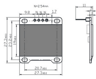 OLED I2C 128x64 Screen   3D CAD Model Library   GrabCAD