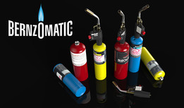 Bernzomatic torches and cylinders
