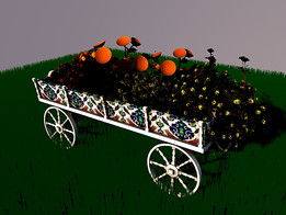 LITTLE CARRIAGE FOR FLOWER COCTAIL