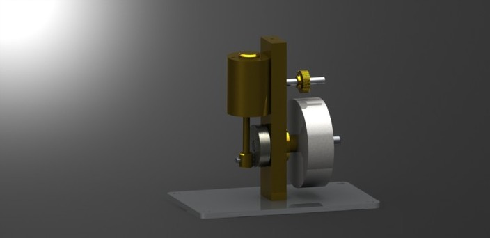 simple oscillating steam engine