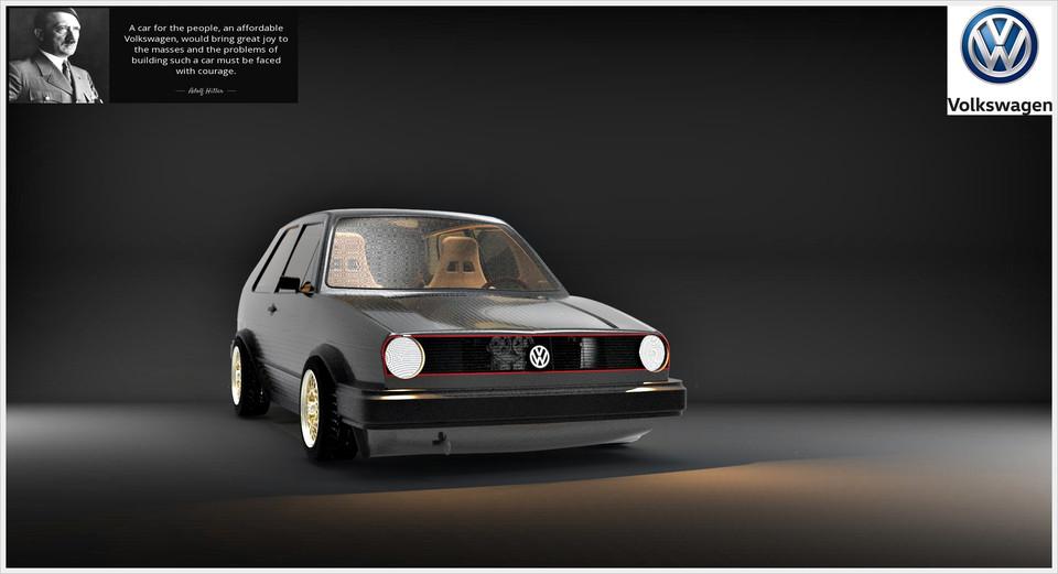 Volkswagen Golf Mk2   3D CAD Model Library   GrabCAD