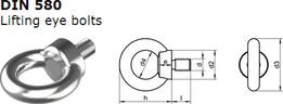 Lifting eye bolt DIN 580
