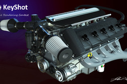 KeyShot V10 Engine rendering