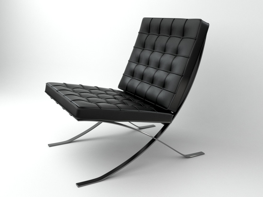 Barcelona Chair | 3D CAD Model Library | GrabCAD
