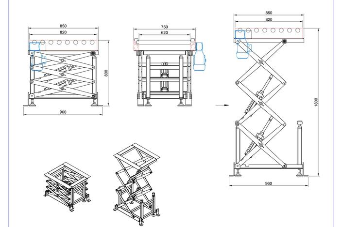 Scissor Lift Designs Scissor Lift With Pneumatic