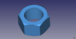 Topological Nut in free cad
