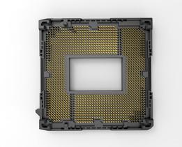 LGA1155 intel cpu socket  details pins with sheild CPU 底座