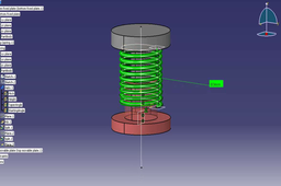 Tutorial: How to make an animation for a compression spring in Catia V5