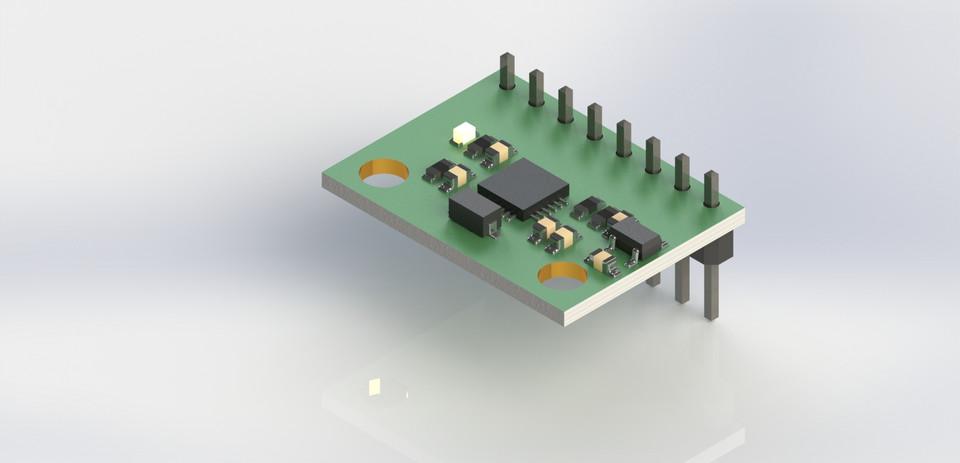 MPU 6050 IMU sensor | 3D CAD Model Library | GrabCAD