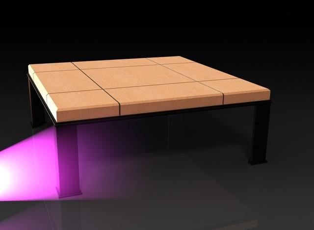 Table de salon en acier et pierre solidworks 3d cad - Table de salon en pierre ...