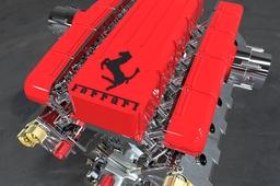 Keyshot rendering V12 Ferrari