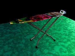 IRON ING TABLE 3D PIXEL