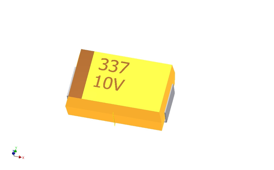 Tantalum capacitor 2917 (7343 Metric) | 3D CAD Model Library