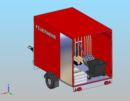 fire trailer with equipment