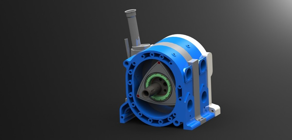 Rotary Engine Solidworks 3d Cad Model Grabcad