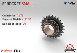 Motor Cycle Engine Internal Setup - Sprocket Small