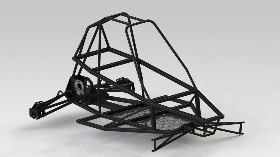 Buggy Chassis | 3D CAD Model Library | GrabCAD