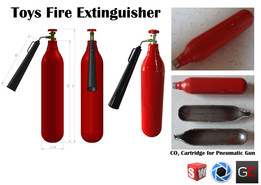 Toy Fire Extinguisher (Scale 1:10)