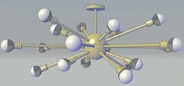 Sputnik-Style Luminaire