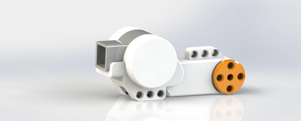 LEGO Mindstorm Motor   3D CAD Model Library   GrabCAD