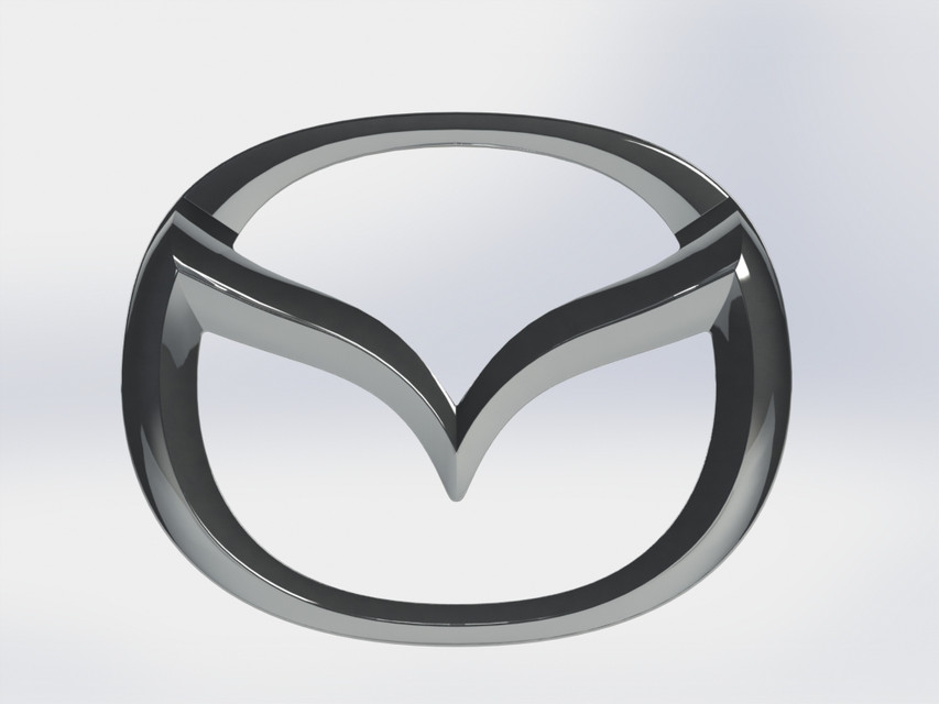 Mazda Logo | 3D CAD Model Library | GrabCAD