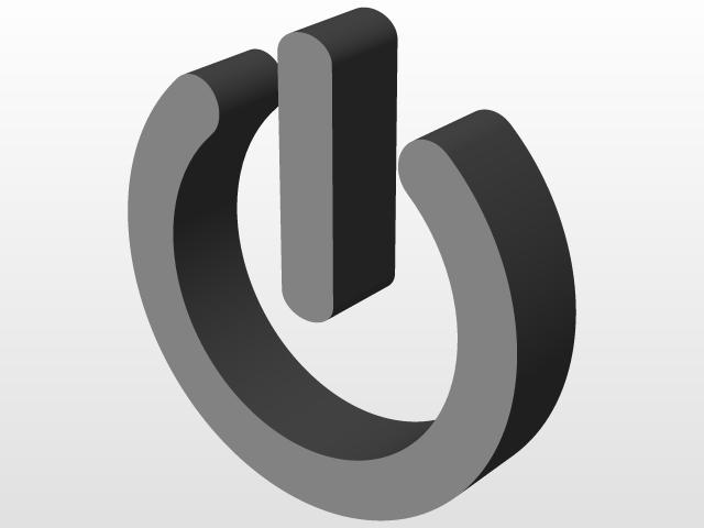 Power Symbol 3d Cad Model Library Grabcad