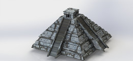Chichen Itza, Maya, Yucatan, Sheet metal puzzle, 3d puzzle, metalcraftdesign