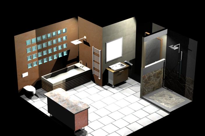 salle de bain topsolid 7 step iges topsolid 3d cad model grabcad. Black Bedroom Furniture Sets. Home Design Ideas