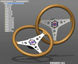 Replica of RS Watanabe Falcon steering wheel