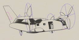 Curtiss Model 203 Quad Tiltrotor WIP