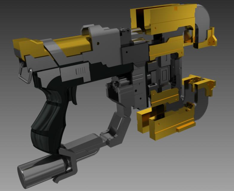 dead space 3 plasma cutter 3d cad model grabcad