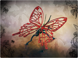 Butterfly, metal puzzle, bugs, 3d model, puzzle, sheet metal, metalcraftdesign