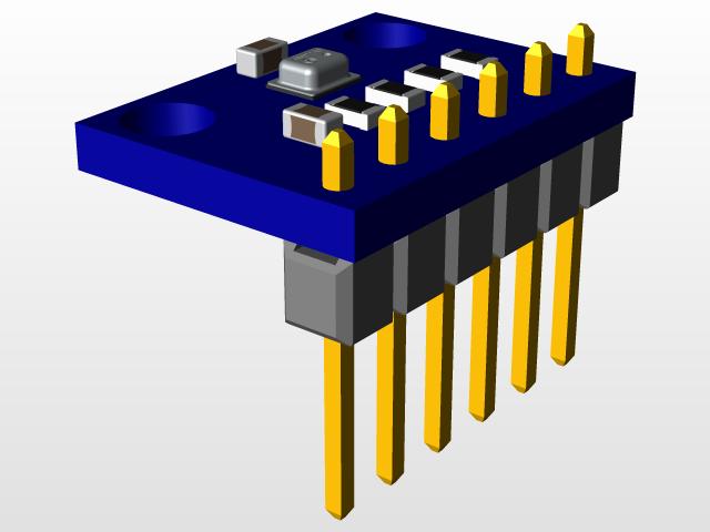 BMP280 module | 3D CAD Model Library | GrabCAD