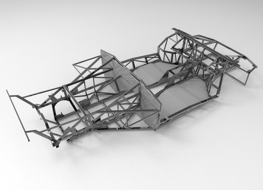 Naerc Lamborghini Diablo Murcielago Kit Car Chassis 3d Cad