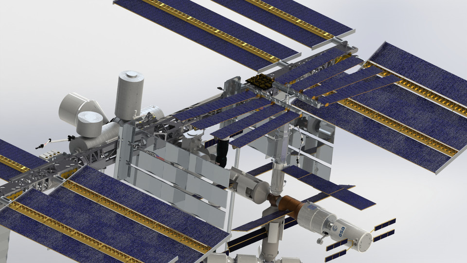 International Space Station (ISS) - SOLIDWORKS - 3D CAD ...