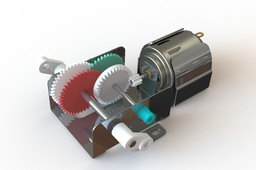 ELENCO 2-IN-1 GEAR MOTOR ASSY  MODEL# 21-130.SLDASM