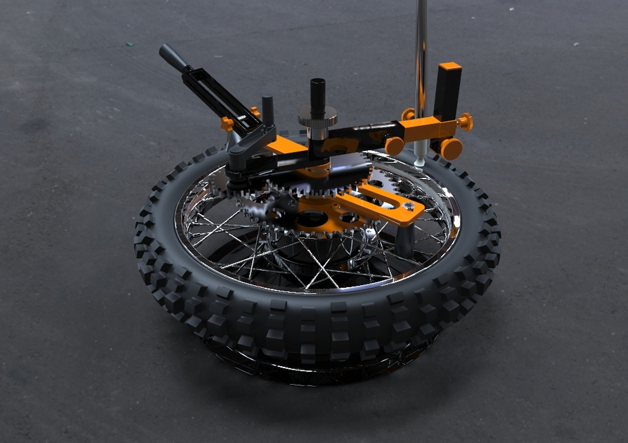 Motorcycle Tire Changing Tool Last Version 3d Cad Model Library