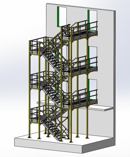 Escalier 3d models for Escalier exterieur 2 etages
