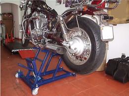 Chopper Bike Lift and Trolley