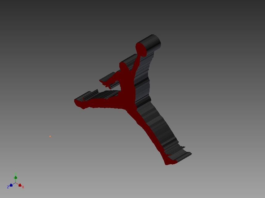 Air Jordan Logo 3d Cad Model Library Grabcad