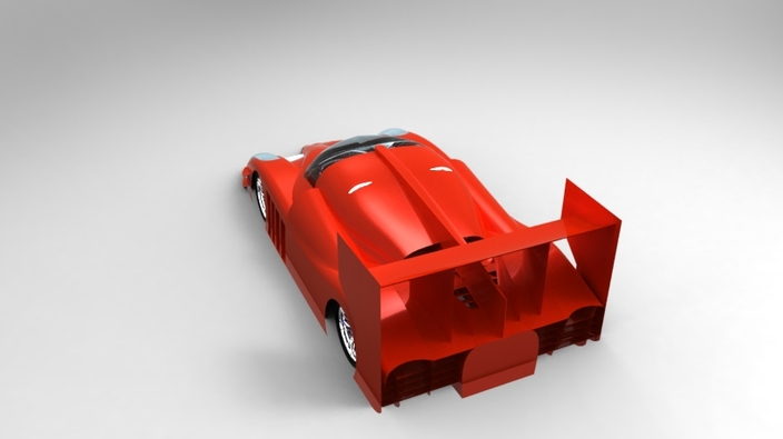 Supercar body Challenge LMP design second entry