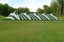 100' x 200' Tension Tent - Striped